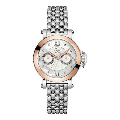 Guess Collection Femme Bijou Damen Armbanduhr Armband Edelstahl Gehaeuse Saphirglas Batterie X40004L1S