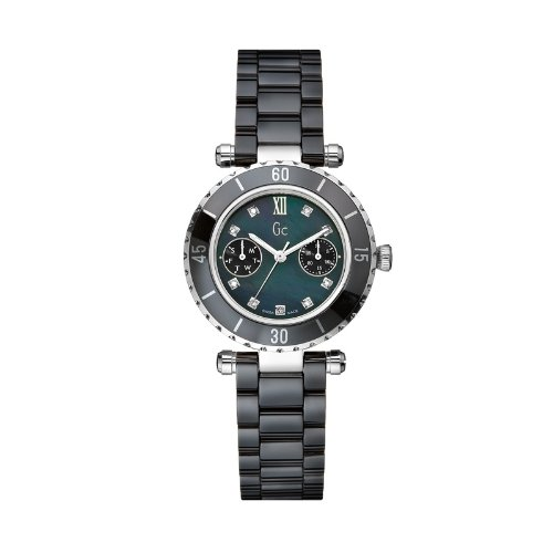 GC Diver Schwarz Rund Mother of Pearl 46003l2