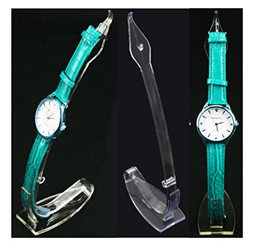 25 Uhrenaufsteller Juwelier Uhrenstaender Uhren Stand Vitrine Acryl Uhrenhalter Uhrentraeger fuer Herren oder