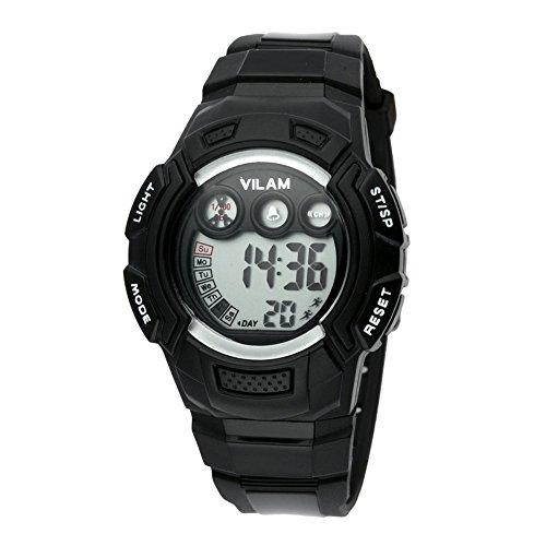 Gute Kinder Alarm Digital Sport schwarz Harz Gurt Uhr