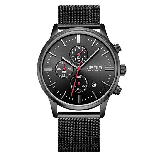 Gute modernes Design black tone Mesh Uhr mit individuell regulierbare Armband