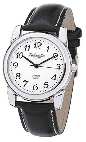 Eichmueller Herren Armbanduhr Analoguhr Quarzuhr Edelstahluhr mit arabischen Ziffern 28941 Uhren Variante N 1