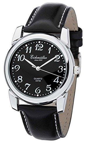Eichmueller Herren Armbanduhr Analoguhr Quarzuhr Edelstahluhr mit arabischen Ziffern 28941 Uhren Variante N 2