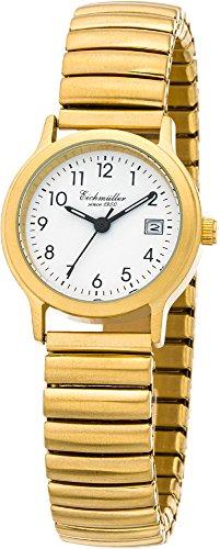 Eichmueller Armbanduhr Analoguhr Quarzuhr Edelstahluhr gelbgoldfarben mit flexiblem Zugband 30000