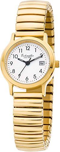 Eichmueller Armbanduhr Analoguhr Quarzuhr Edelstahluhr gelbgoldfarben mit flexiblem Zugband 30001