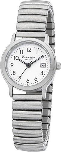 Eichmueller Armbanduhr Analoguhr Quarzuhr Edelstahluhr silberfarben mit flexiblem Zugband 29999