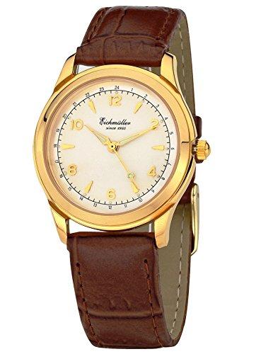 Eichmueller Quarz Retro Unisex Armbanduhr Watch Kroko Lederband Kaliber TMI Y121 mit Uhrenbox
