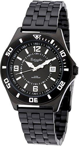 Eichmueller IP Black Premium Edelstahl Armbanduhr Datum Miyota 10ATM Inklusive Uhrenbox