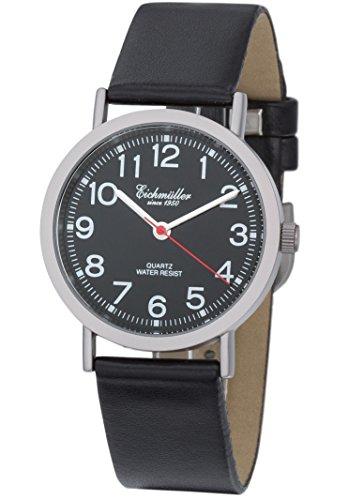 Eichmueller modische Armbanduhr Leder mit Miyota 2035 Quartz Uhrwerk