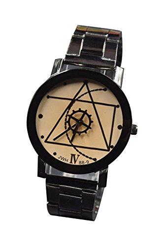 Armbanduhr SODIAL R Art und Weise Frauen Luxus Kompass Edelstahl Quarz Analoge Armbanduhr des Geliebten Uhr Weiss S