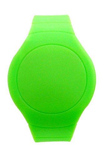 Armbanduhr SODIAL R Cool Touch LED Digital Uhr Armbanduhr mit rundem Zifferblatt Gruen