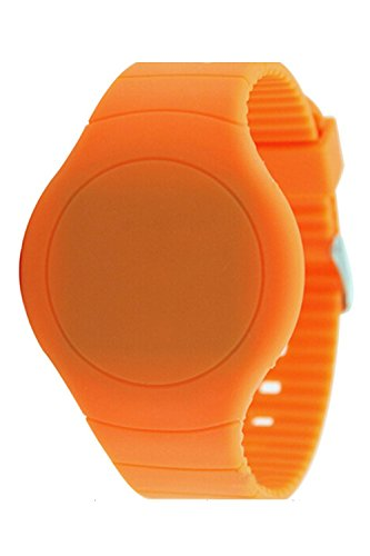 Armbanduhr SODIAL R Cool Touch LED Digital Uhr Armbanduhr mit rundem Zifferblatt Orange