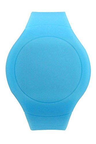Armbanduhr SODIAL R Cool Touch LED Digital Uhr Armbanduhr mit rundem Zifferblatt Himmelblau