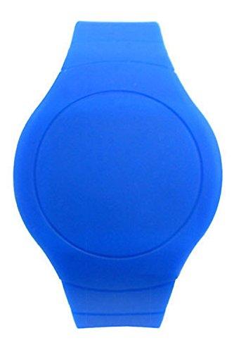 Armbanduhr SODIAL R Cool Touch LED Digital Uhr Armbanduhr mit rundem Zifferblatt Saphirblau