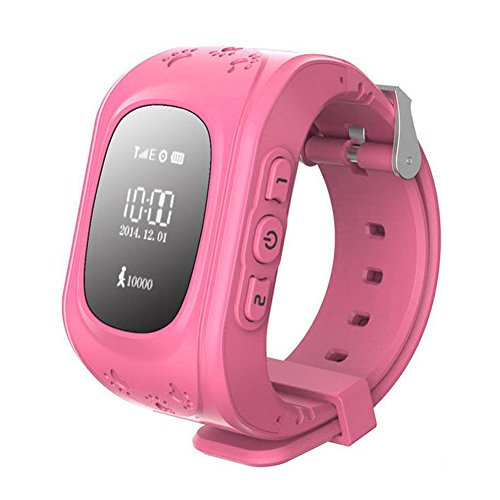 Kinder watch SODIAL R GPS Tracker Uhr Smartuhr Anti Verschwunden Kinder Smartwatch fuer Android und iPhone rosa