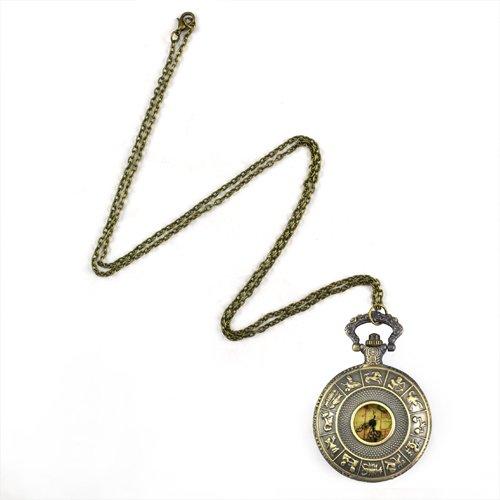 SODIAL R Retro Australien Halskette Taschenuhr