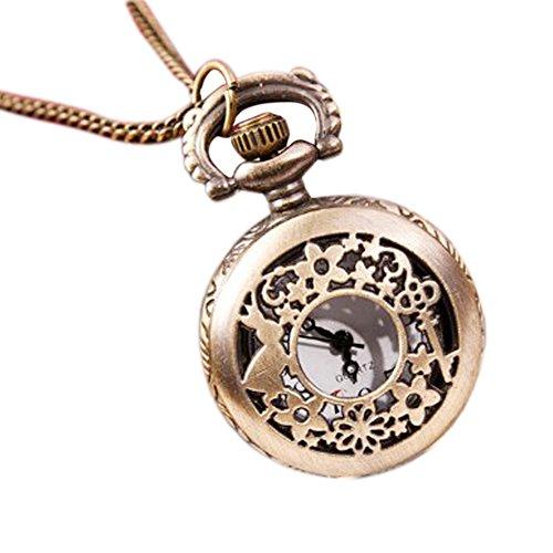 SODIAL R Schluessel Kaninchen Kleine Hohlen Taschenuhr Pullover Halskette Mode Uhr
