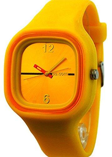 SODIAL R Unisex Bunte Gelee Silikon Mode Gelb
