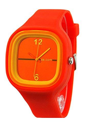 SODIAL R Unisex Bunte Gelee Silikon Mode orange