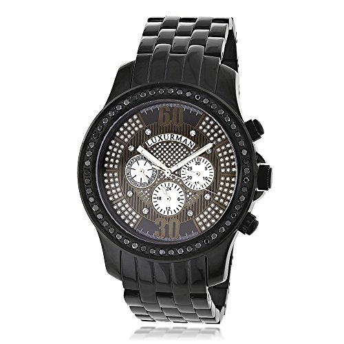 Mens Black Diamond Uhren von LUXURMAN 2 25ct