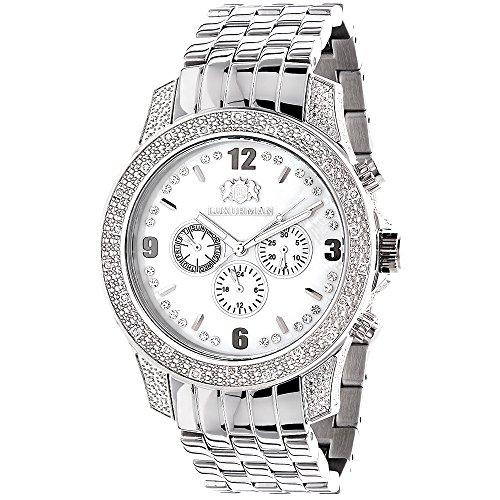 Mens Diamond Watches 0 50ct LUXURMAN Watch