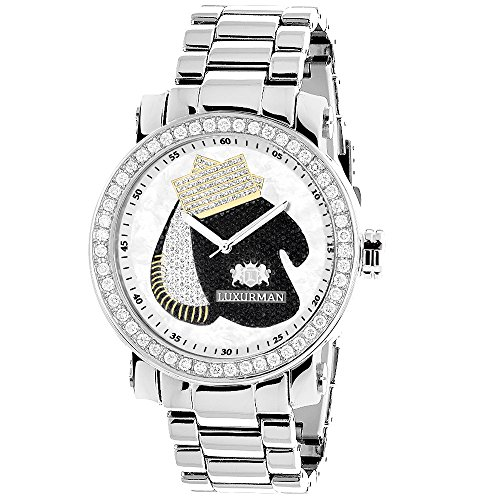 Luxurman Mens Diamond Watch with Boxing Gloves 4 CT Southpaw Edition