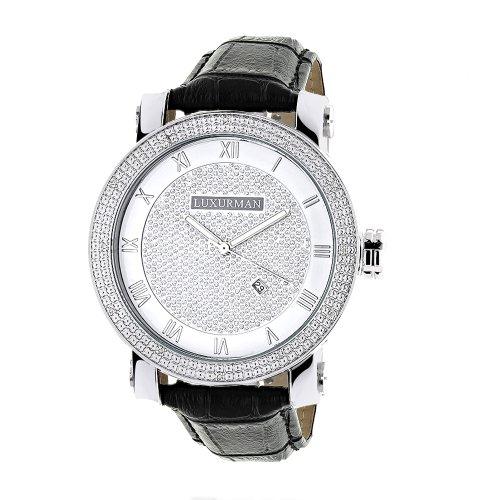Luxurman Diamond Watches Mens VS Diamond Watch 18ct