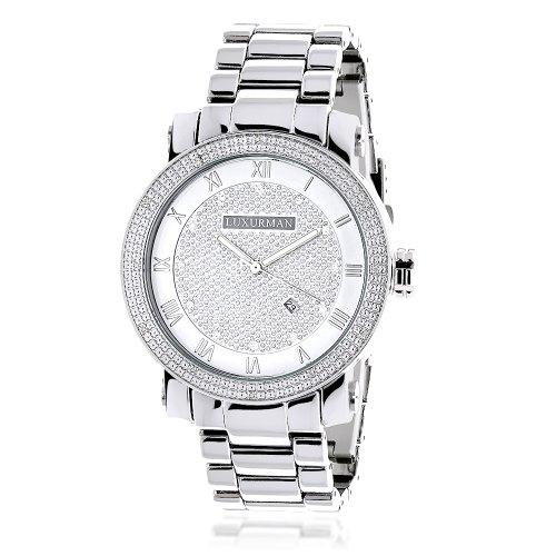 Luxurman Mens Diamond Watch 0 12ct
