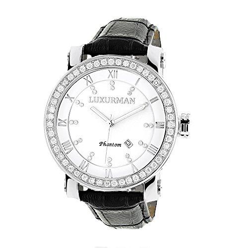 LUXURMAN Mens VS Diamond Watch 4 ct White MOP