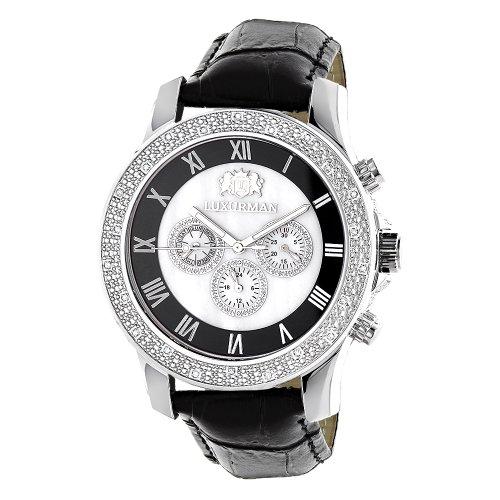 LUXURMAN Watches Mens Diamond Watch 0 25ct Freeze