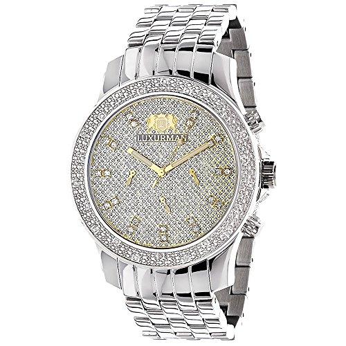 Luxurman Watches Mens Diamond Wristwatch 0 25ct