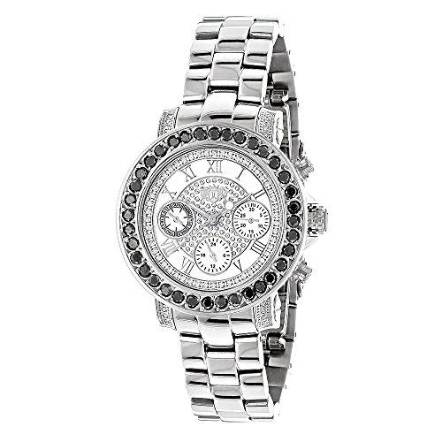 LUXURMAN Watches Ladies Black Diamond Watch 2 50ct