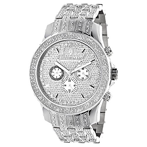 Raptor Iced Out Mens Diamond Bezel Band and Watch by LUXURMAN 1 Carat