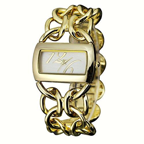 Zeichen Elegant Armband Modisch Golden Damen Quarz Uhr DEW336