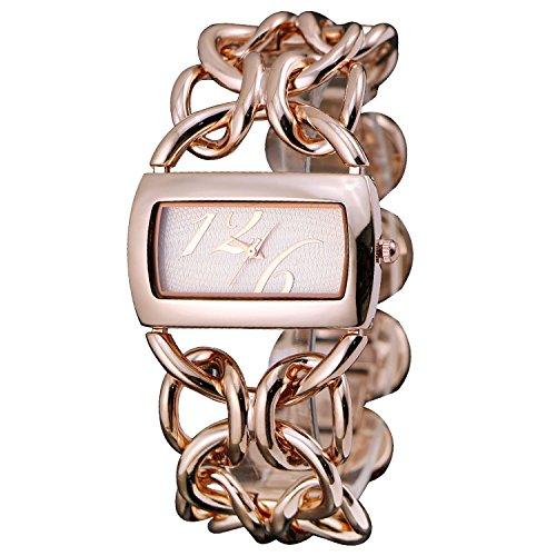 Zeichen Elegant Armband Modisch Rose Golden Damen Quarz Uhr DEW338