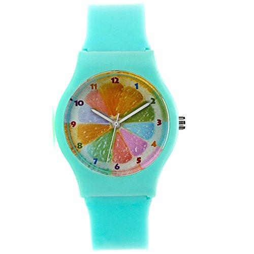Zeichen Kinderuhr Lernuhren Quarz Uhr Minzgruen Armbanduhr Jungen Uhr DEW020