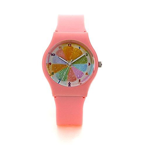 Zeichen Kinderuhr Lernuhren Quarz Uhren Rosa Armbanduhr Jungen Uhr DEW021