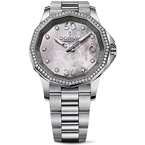 Corum Admirals Cup Legend Damen Diamanten 38mm Datum Uhr 08210147V200 PK11