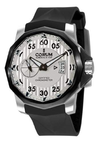 Corum Herren 947951940371 Admirals Cup Competition Schwarz 48 Weiss Zifferblatt