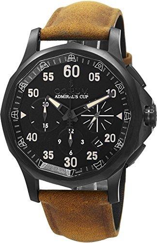 Corum Admiral s Cup Legend 42 Chrono Herren Schwarz PVD Automatik Swiss made Armbanduhr 984 101 98 F502 AN46