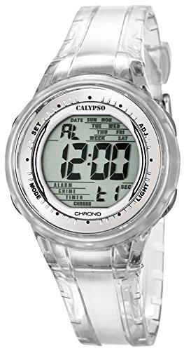 Calypso Damenarmbanduhr Quarzuhr Kunststoffuhr mit Polyurethanband Alarm Chronograph digital K5688 5