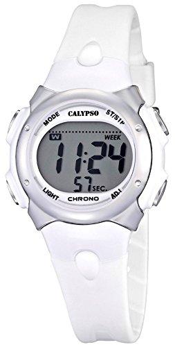 Calypso Damenarmbanduhr Quarzuhr Kunststoffuhr mit Polyurethanband Alarm Chronograph digital alle Modelle K5609 Variante 01