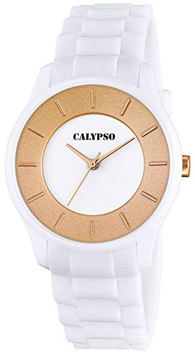 Calypso Damenarmbanduhr Quarzuhr Kunststoffuhr mit Polyurethanband analog alle Modelle K5671 Uhren Variante N 2
