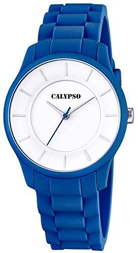 Calypso Damenarmbanduhr Quarzuhr Kunststoffuhr mit Polyurethanband analog alle Modelle K5671 Uhren Variante N 6