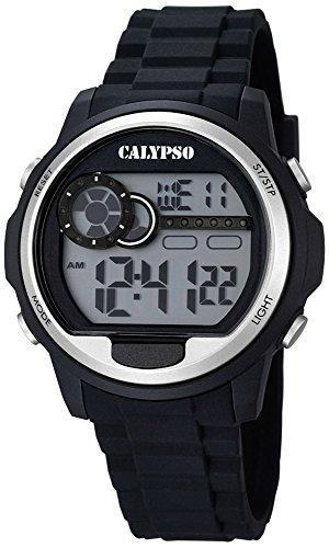 Calypso Herrenarmbanduhr Quarzuhr Kunststoffuhr mit Polyurethanband Alarm Chronograph digital K5667 1