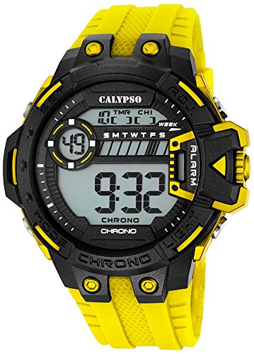 Calypso Herrenarmbanduhr Quarzuhr Kunststoffuhr mit Polyurethanband Alarm Chronograph digital alle Modelle K5696 Variante 01