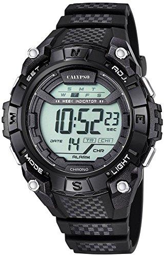 Calypso Herrenarmbanduhr Quarzuhr Kunststoffuhr mit Polyurethanband Alarm Chronograph digital alle Modelle K5683 Variante 06