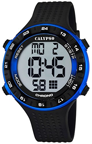 Calypso Herrenarmbanduhr Quarzuhr Kunststoffuhr mit Polyurethanband Alarm Chronograph digital alle Modelle K5663 Variante 02