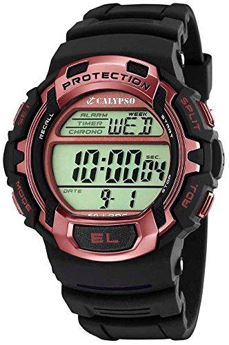 Calypso Herrenarmbanduhr Quarzuhr Kunststoffuhr mit Polyurethanband Alarm Chronograph digital K5573 9
