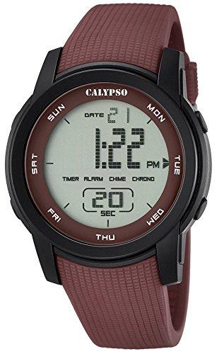 Calypso Herrenarmbanduhr Quarzuhr Kunststoffuhr mit Polyurethanband Alarm Chronograph digital alle Modelle K5698 Variante 05